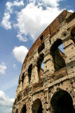 Fragment of Colosseum in Rome, Italy. Stock Photo