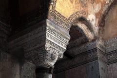 Fragment of column of Hagia Sophia Stock Images