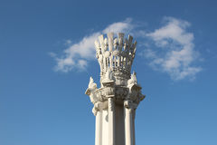A fragment of column, VDNKh Royalty Free Stock Image