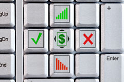 A fragment of a computer keyboard Stock Photography
