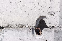 Fragment of a concrete product Stock Image