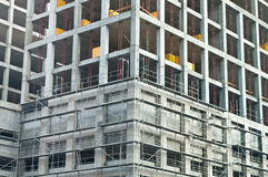 Fragment of construction. Business Center Royalty Free Stock Images