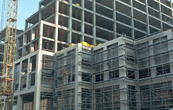 Fragment of construction. Business Center Stock Photos