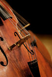 Fragment contrabass closeup Royalty Free Stock Images
