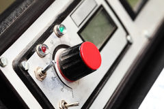 Fragment of control panel of an old machine Royalty Free Stock Photography