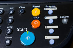 A fragment of the control panel. Pressing the start , cancel, restart Stock Images