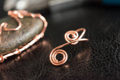 Fragment from a copper wire Royalty Free Stock Photo