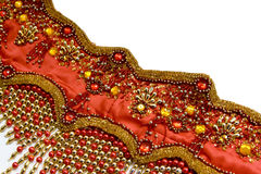 Fragment of a costume for east dance Royalty Free Stock Photography