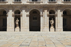 Fragment of the courtyard of the Royal Palace in Madrid Royalty Free Stock Photography