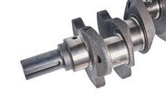 Fragment of a cranked shaft Royalty Free Stock Image