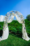 Fragment of creatively decorated wedding arch Stock Photography
