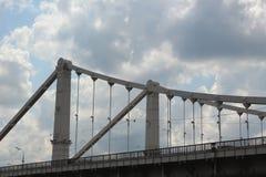 The fragment of the Crimean Bridge Royalty Free Stock Photos
