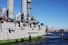 Fragment of cruiser Aurora, city Saint Petersburg Royalty Free Stock Photography