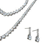 Fragment of crystal pendant, bracelet  and a couple of earrings Royalty Free Stock Images