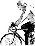 Fragment of a cyclist Royalty Free Stock Image