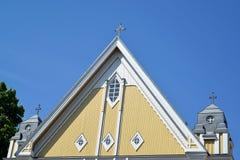 Fragment d'église Free dans la perspective du ciel Kotka, Finlande Photo libre de droits
