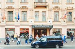 Fragment d'un beau bâtiment historique de la ville de St Petersburg photo libre de droits