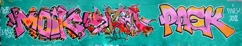 Fragment d'un beau modèle de graffiti dans rose et vert avec photos stock