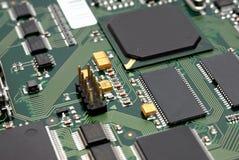 Fragment d'un estamper-circuit-panneau d'ordinateur Image libre de droits