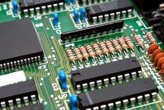 Fragment d'un estamper-circuit-panneau d'ordinateur Images libres de droits