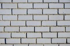 Fragment d'un mur de la brique blanche de silicate Image libre de droits