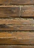 Fragment d'un mur en bois Photo libre de droits