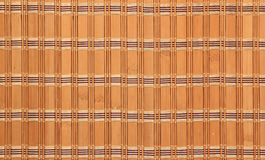 Fragment d'un rideau en bambou Photos libres de droits