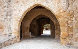 Fragment d'une construction dans Kourion Image libre de droits