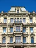 Fragment d'une façade de construction sur Nevsky Prospekt Photos stock