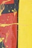 Fragment d'une frontière de sécurité peinte Image stock
