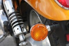 Fragment d'une moto - la vue arrière Photos libres de droits