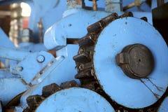 Fragment d'une rétro machine à la vieille usine pour la production de l'alcool photos libres de droits