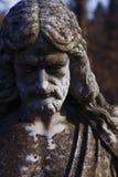 Fragment d'une statue antique de concept de Jesus Christ Religion, de foi, de mort, de résurrection et d'éternité images stock
