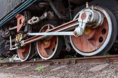 Fragment d'une vieille locomotive rouillée Photos libres de droits