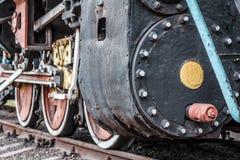 Fragment d'une vieille locomotive rouillée Images stock