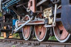 Fragment d'une vieille locomotive rouillée Image libre de droits