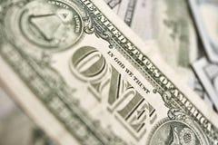 Fragment de billet d'un dollar Dollar américain d'argent Photo libre de droits