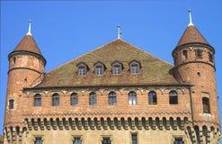 Fragment de château de Lausanne en été Image stock