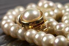 Fragment de collier de perle Image libre de droits