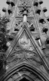 Fragment de crypte dans le vieux cimetière juif Image libre de droits
