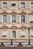 Fragment de façade du bâtiment de Monte Carlo Photographie stock libre de droits