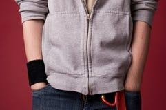 Fragment de jeunes hommes de vêtements. Images libres de droits