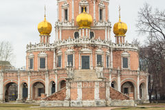 Fragment de l'église de l'intervention chez Fili, Moscou Image libre de droits
