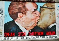 Fragment de l'exposition de galerie de côté est, mur de Berlin, Allemagne image libre de droits