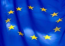 Fragment de l'indicateur de l'Union européenne Photographie stock libre de droits