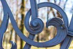 Fragment de la barrière forgée du jardin de Mikhailovsky Photo libre de droits