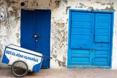 Fragment de la construction dans la vieille ville d'Essaouira Photographie stock libre de droits