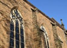 Fragment de la construction Frettes de l'église de St Paul Nde de ¼ de la ville BÃ l'allemagne photographie stock