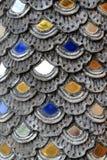 Fragment de la décoration du mur coloré dans un temple Photos libres de droits