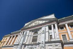 Fragment de la façade avant du château du ` s de St Michael à St Petersburg photos libres de droits